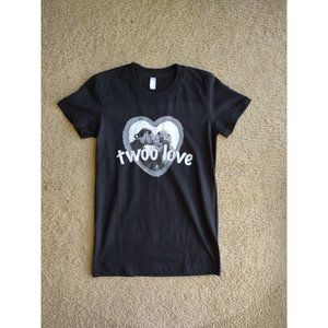 "Princess Bride ""Twoo Love"" Black Graphic Tee T-Shi"